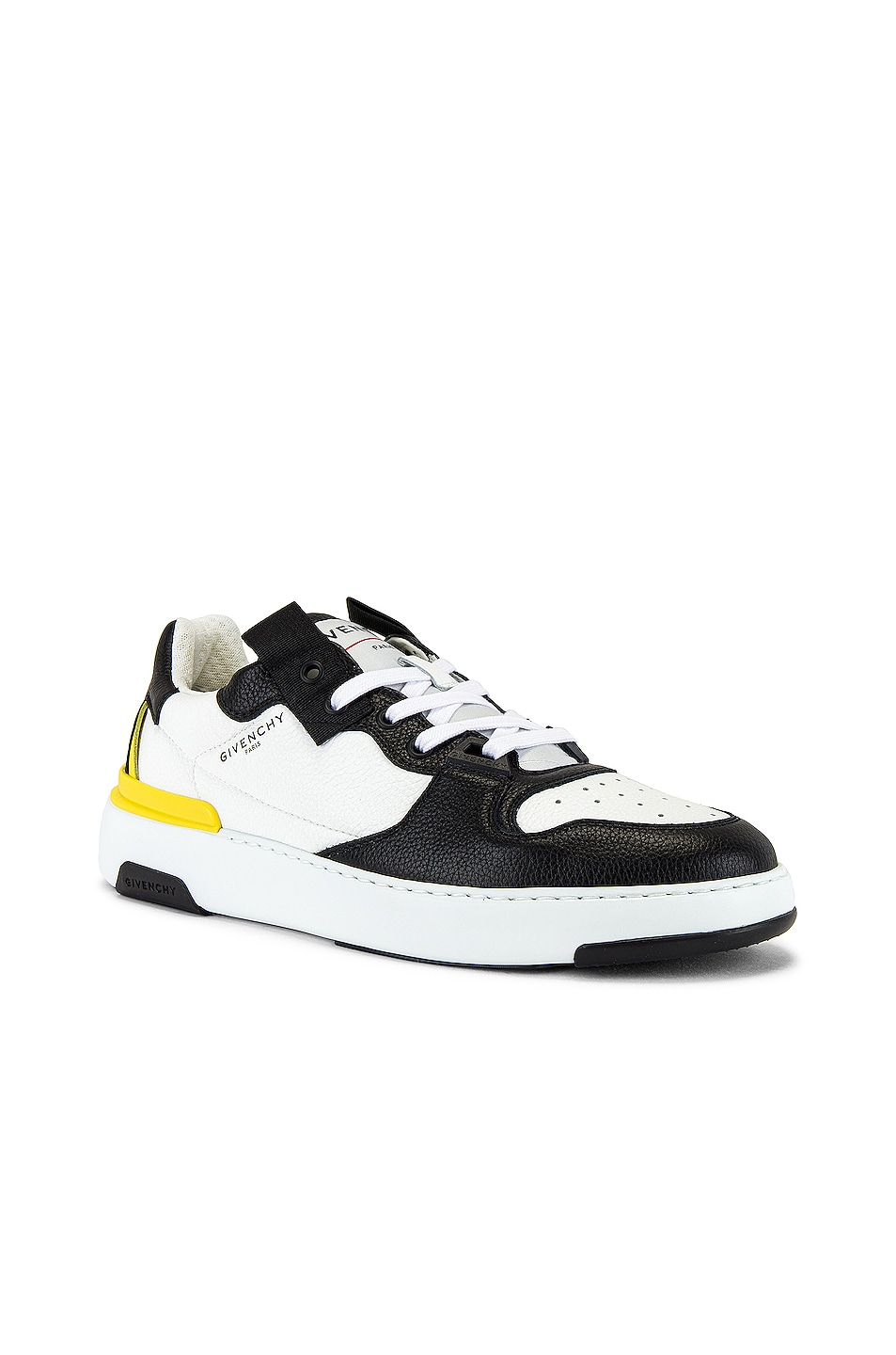 Image 1 of Givenchy Wing Sneaker Low in Black & White & Yellow