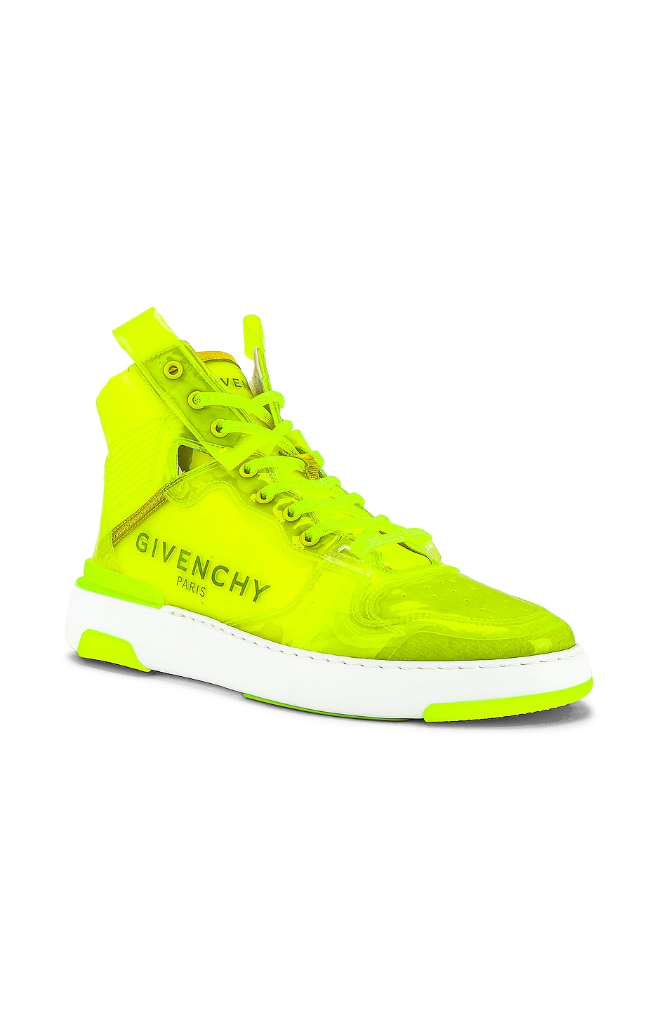 Image 1 of Givenchy Wing Sneaker High With Logo in Fluo Yellow