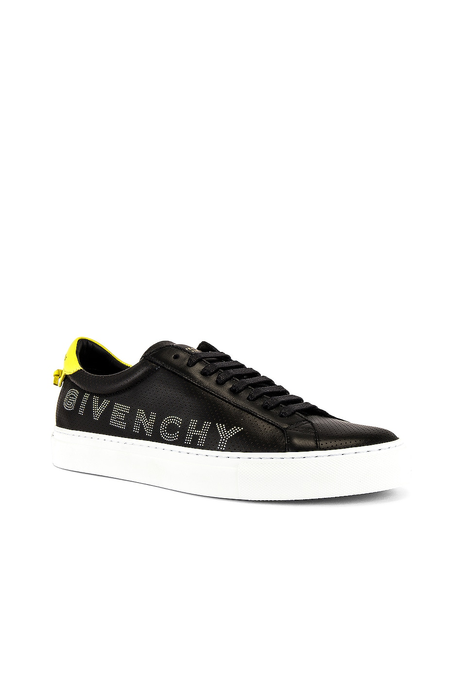 Image 1 of Givenchy Urban Street Low Sneaker in Black & Yellow