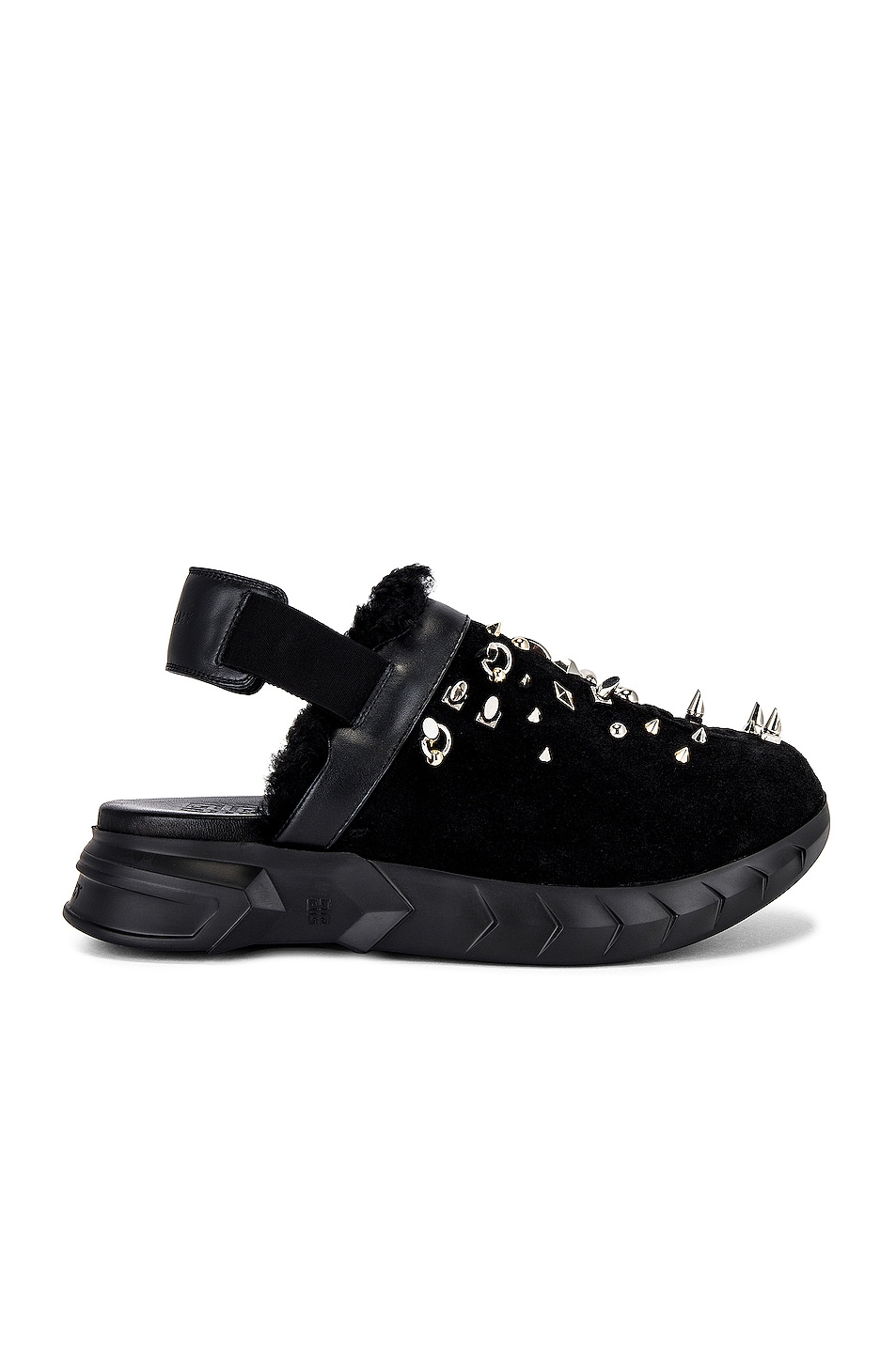 Image 1 of Givenchy Marshmallow Sling Back Clog in Black