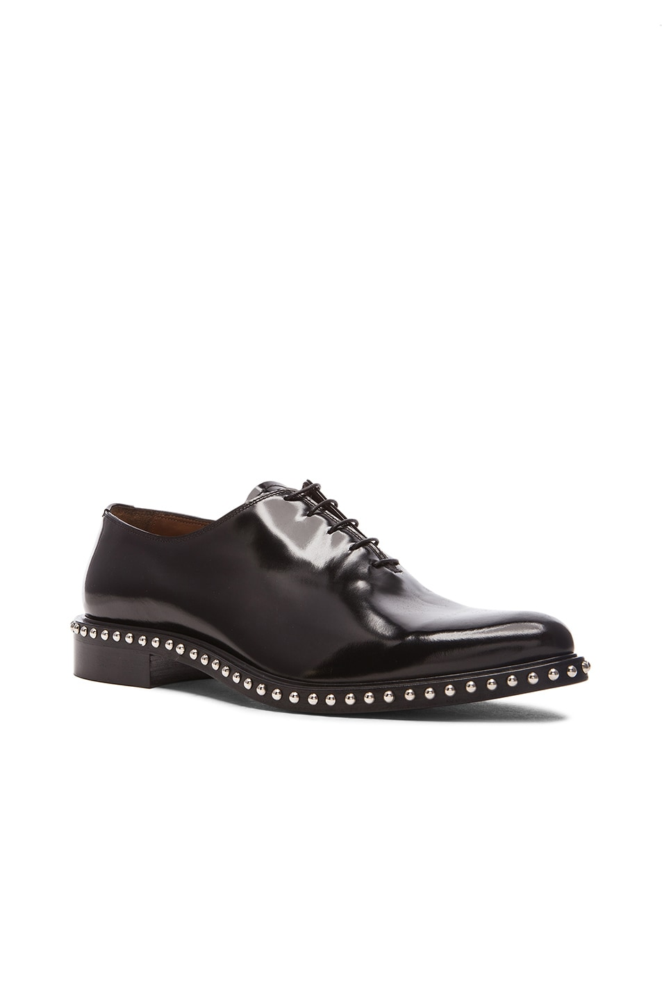 Image 1 of Givenchy Richel Studded Leather Dress Shoes in Black 1c10a73ddaef
