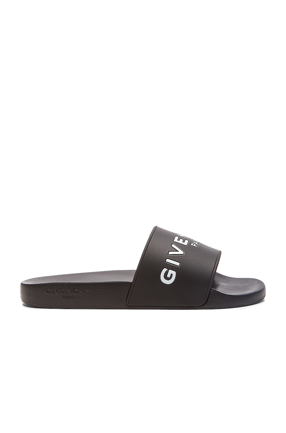 Image 1 of GIVENCHY Polyurethane Slide Sandals in Black