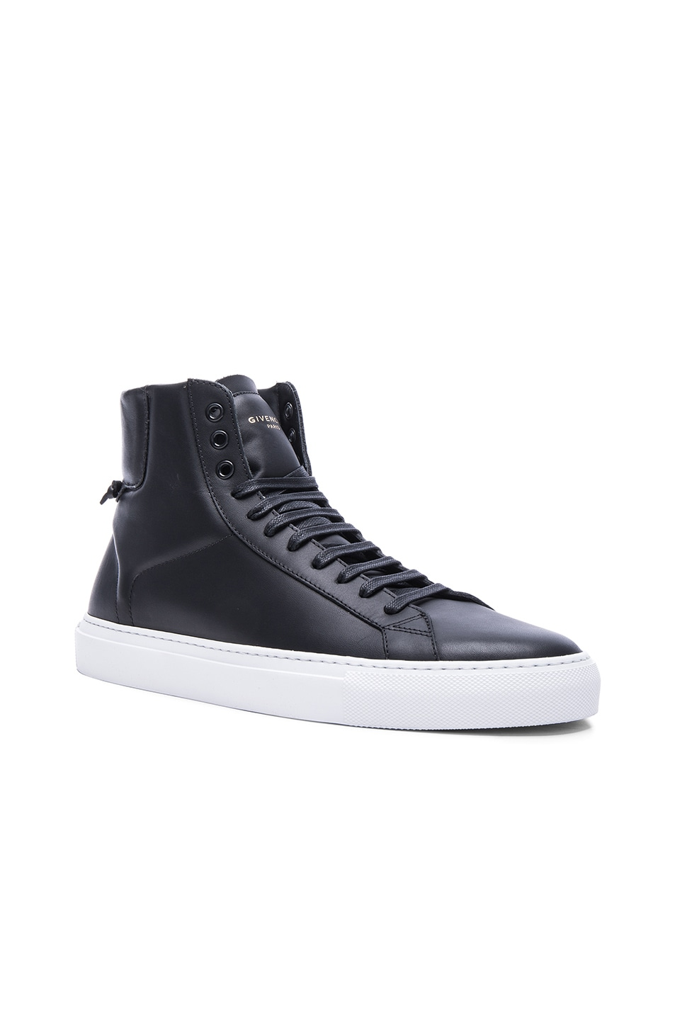 Image 1 of Givenchy Knots High Top Leather Sneakers in Black