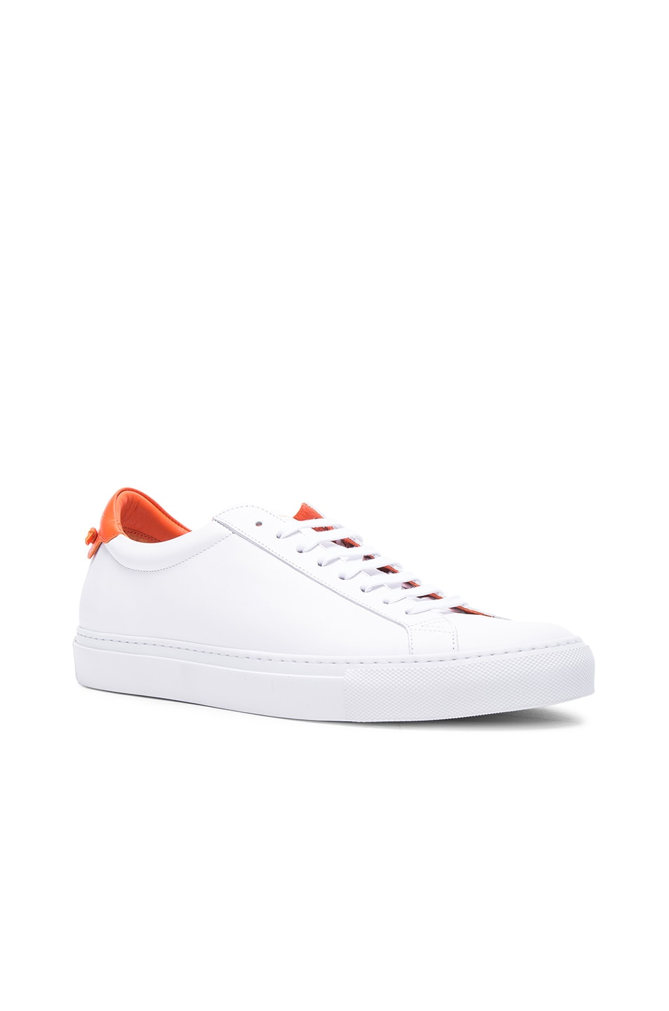 Image 1 of Givenchy Knots Low Sneakers in White & Orange