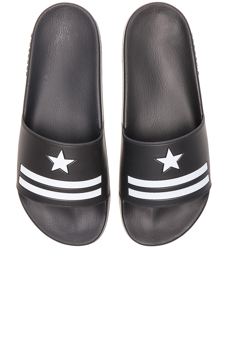 26ce94e0d1e7 Image 1 of Givenchy Polyurethane Slide Sandals in Black   White