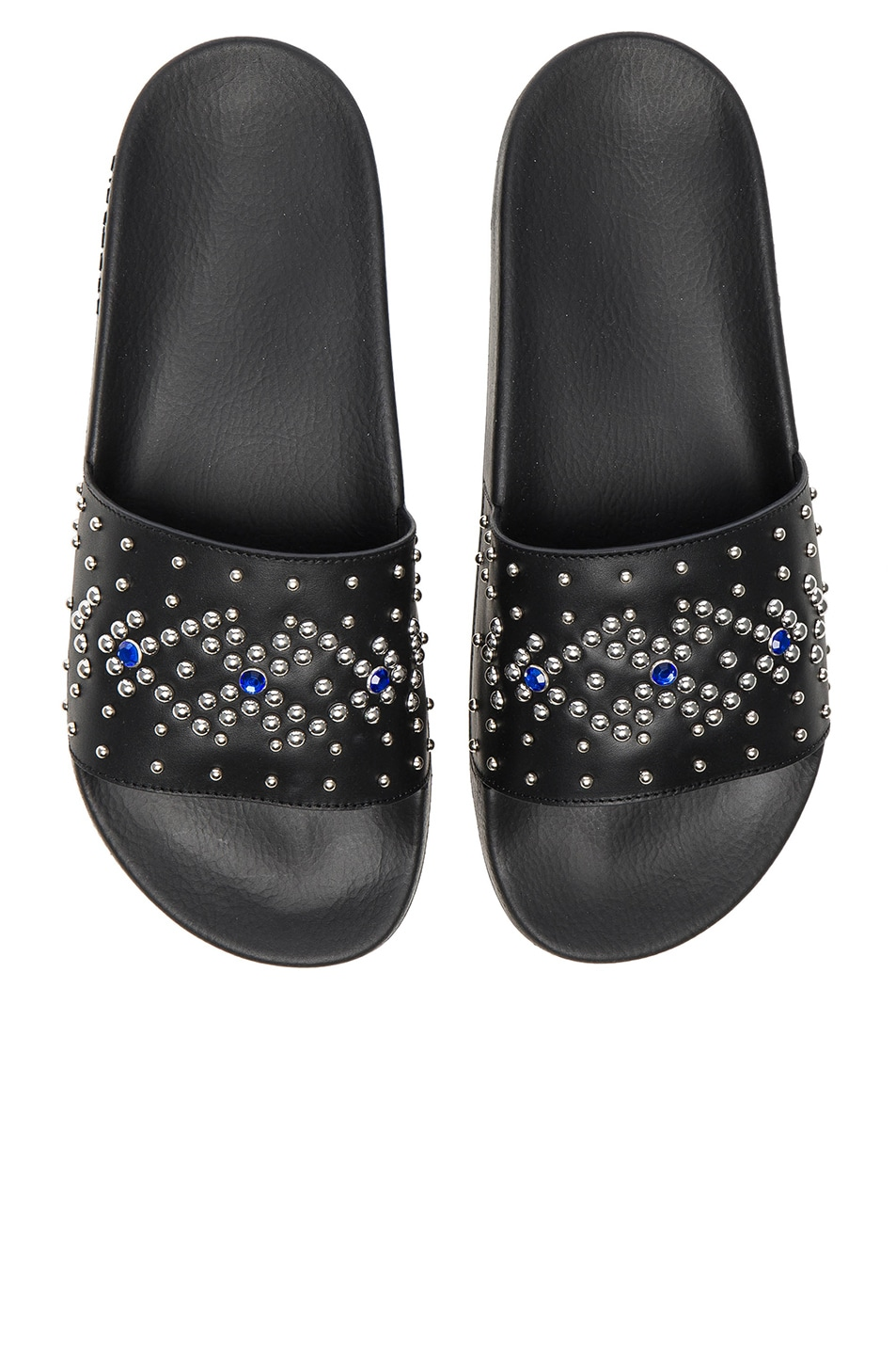 a8020239c07 Image 1 of Givenchy Studded Slide Sandals in Black   Blue