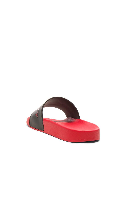 Image 4 of Givenchy Slide Flat Sandals in Black & Red
