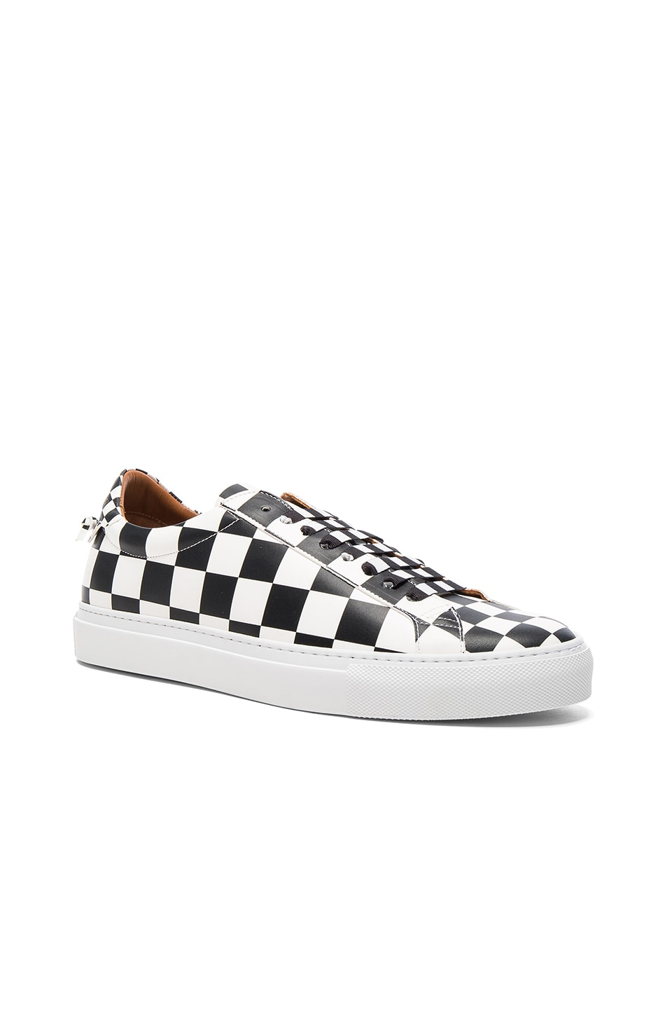 Image 1 of Givenchy Leather Urban Street Low Sneakers in Black & White