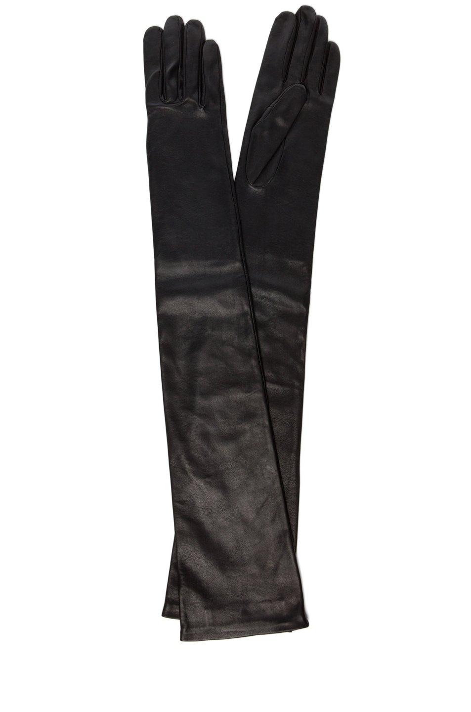 Image 1 of GIVENCHY Long Leather Gloves in Black