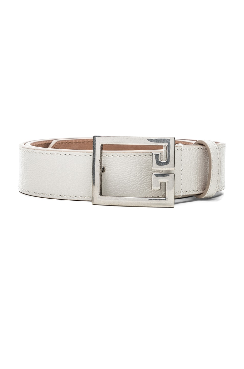 Image 1 of Givenchy Logo Belt in White