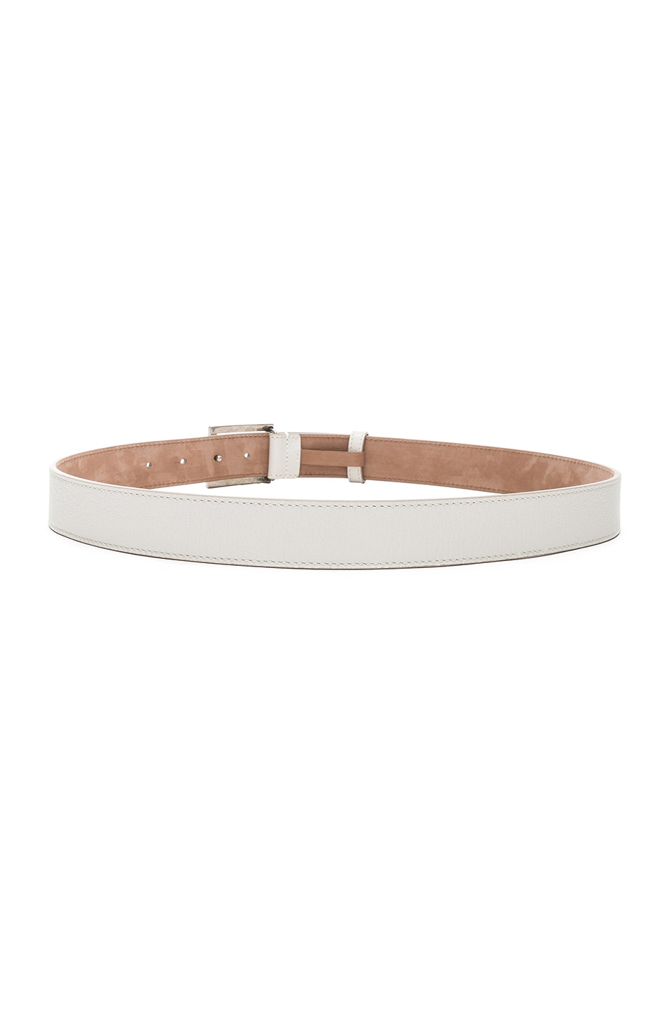 Image 3 of Givenchy Logo Belt in White