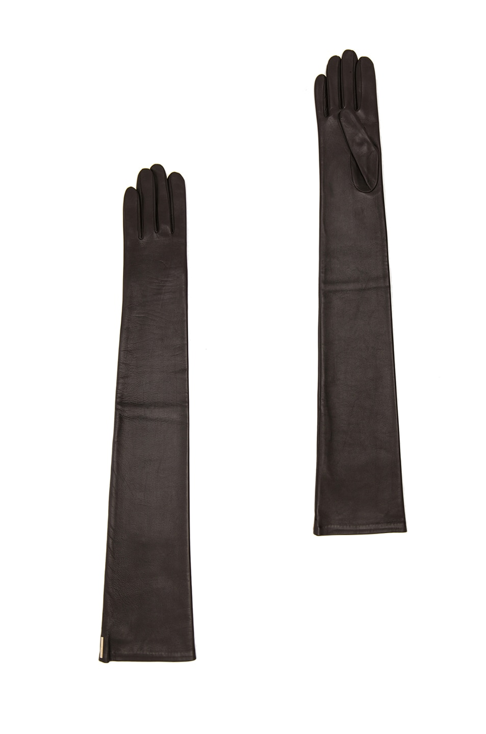 Image 1 of GIVENCHY Long Nappa Leather Gloves in Black