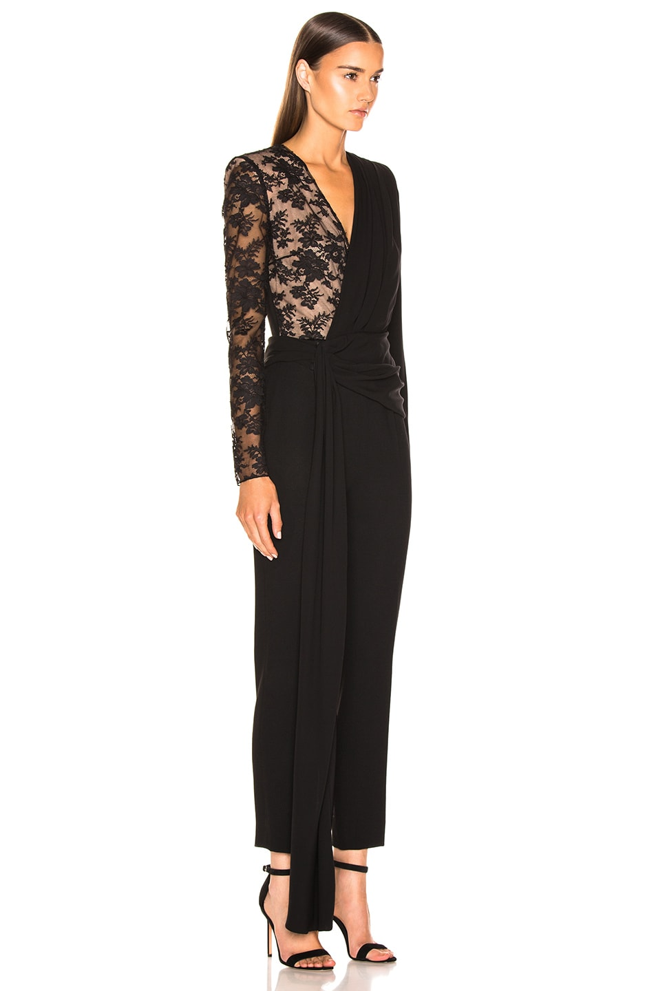 Image 2 of Givenchy Lace Jumpsuit in Black