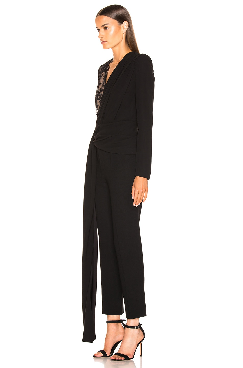 Image 3 of Givenchy Lace Jumpsuit in Black