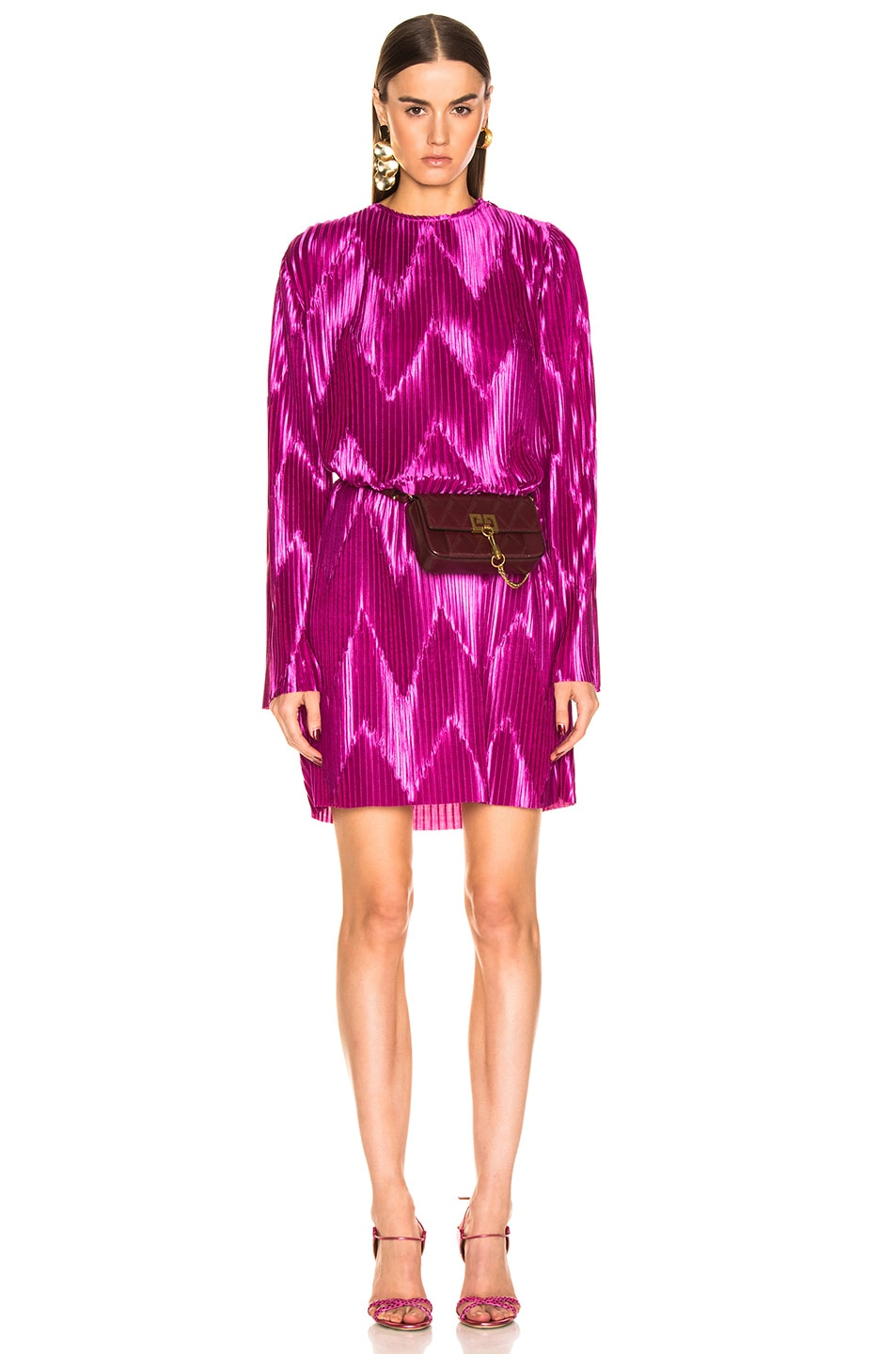 Image 1 of Givenchy Zig Zag Dress in Orchid