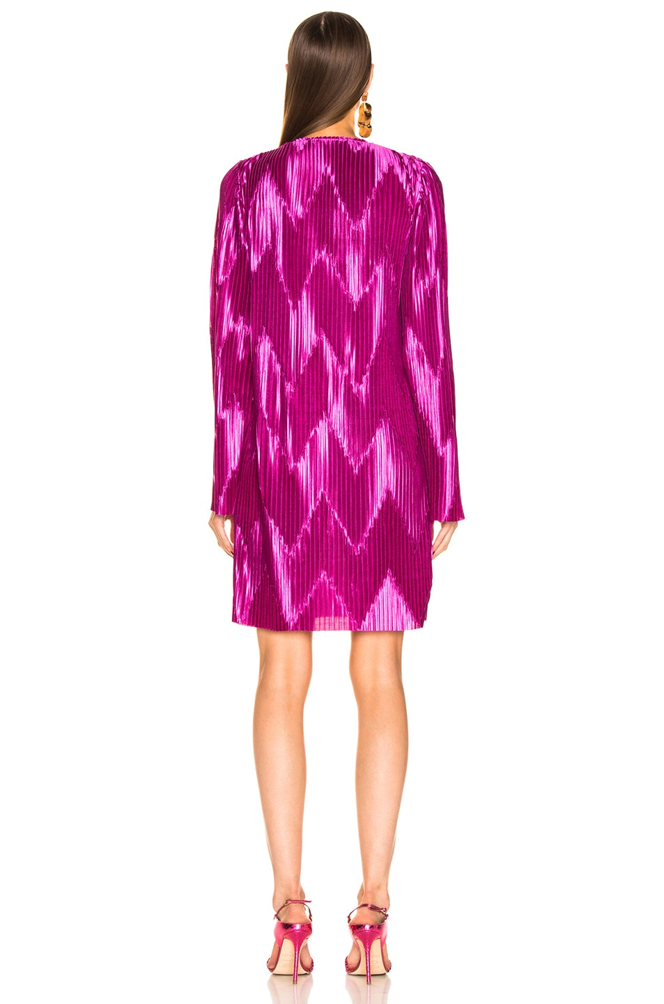 Image 4 of Givenchy Zig Zag Dress in Orchid