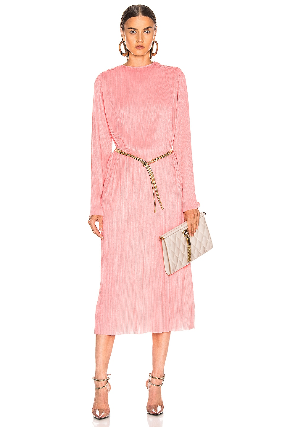 Image 1 of Givenchy Pleated Long Dress in Pink