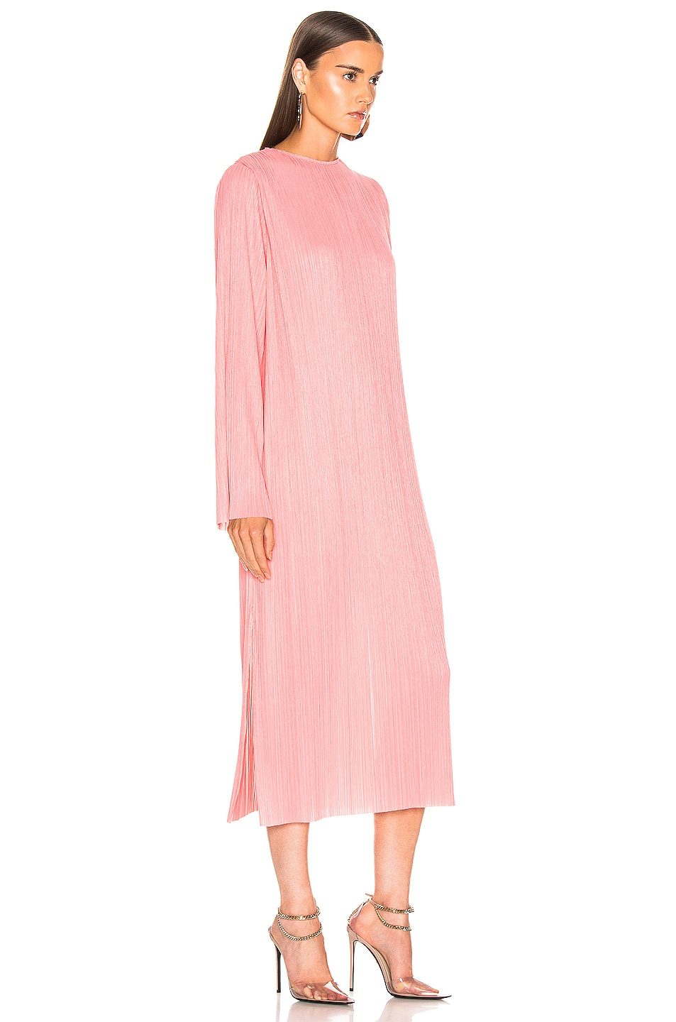 Image 3 of Givenchy Pleated Long Dress in Pink
