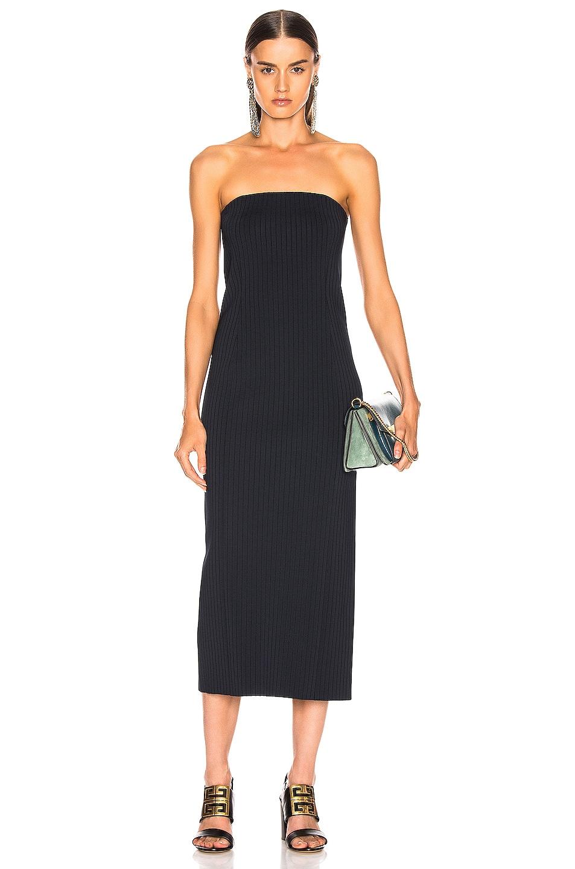 Image 1 of Givenchy Rib Long Dress in Navy