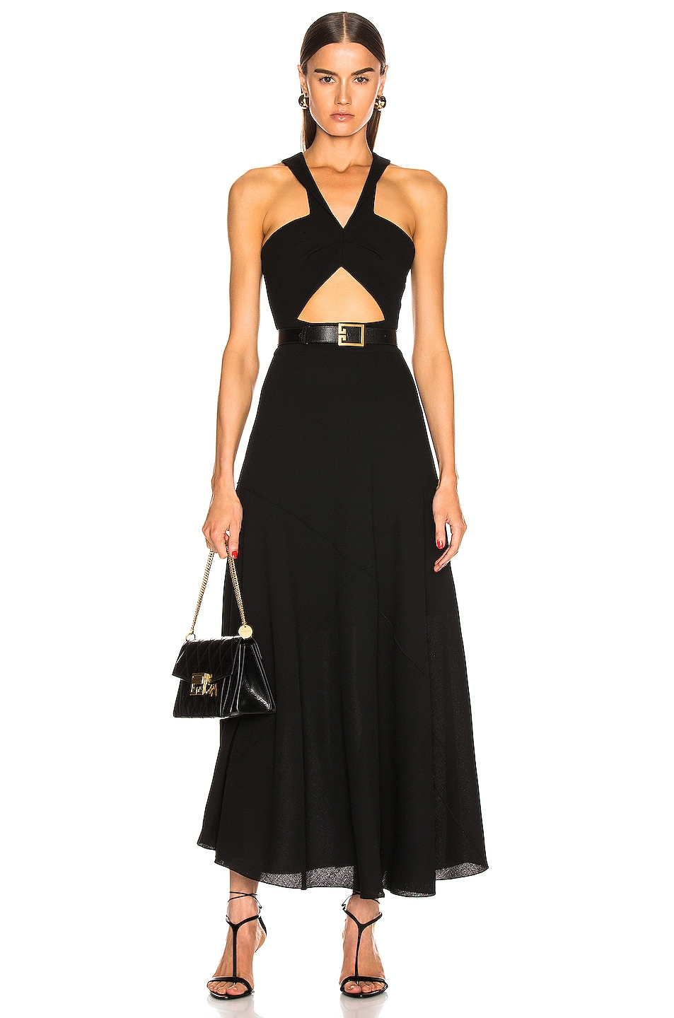 Image 1 of Givenchy Twisted Cutout Dress in Black