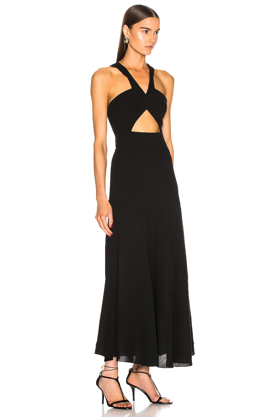Image 2 of Givenchy Twisted Cutout Dress in Black