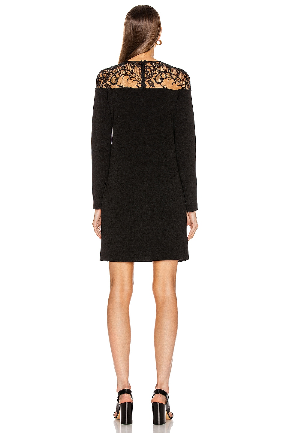Image 3 of Givenchy Lace Mini Dress in Black
