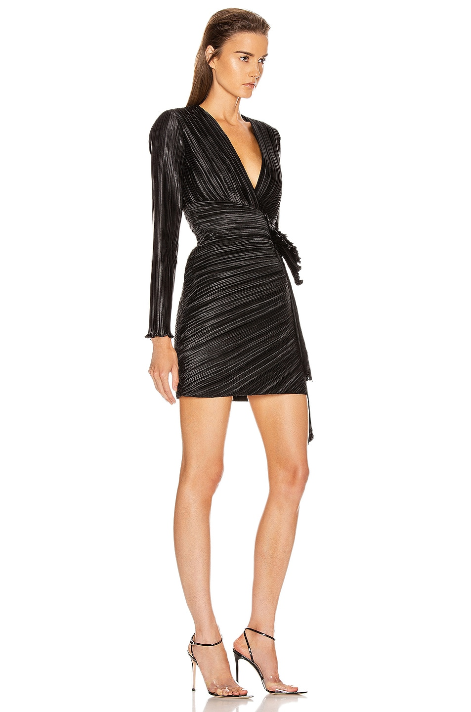 Image 3 of Givenchy Pleated Bow Wrap Dress in Black