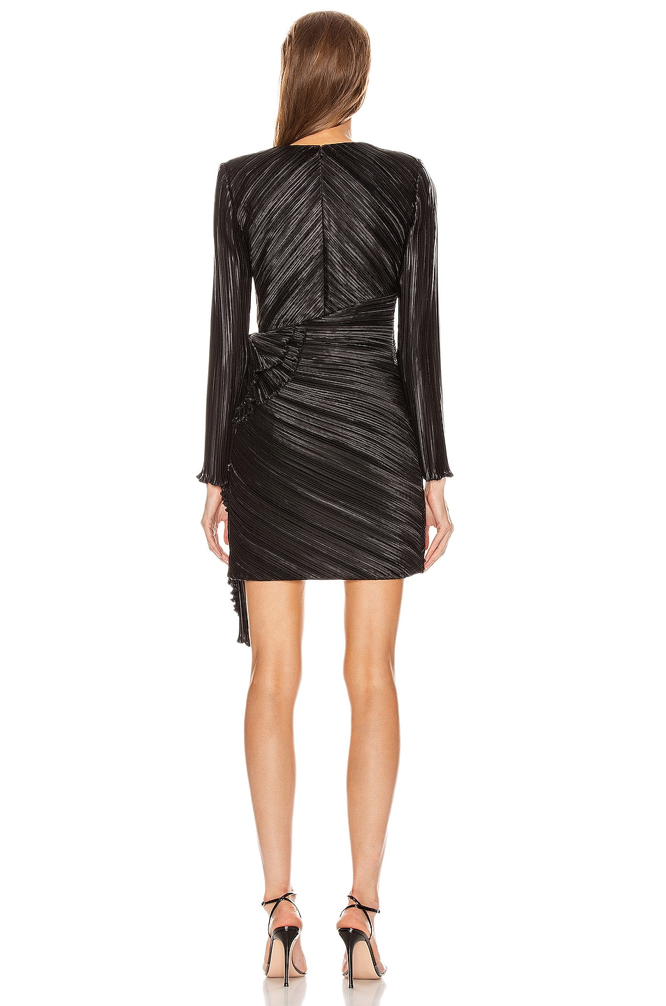 Image 4 of Givenchy Pleated Bow Wrap Dress in Black
