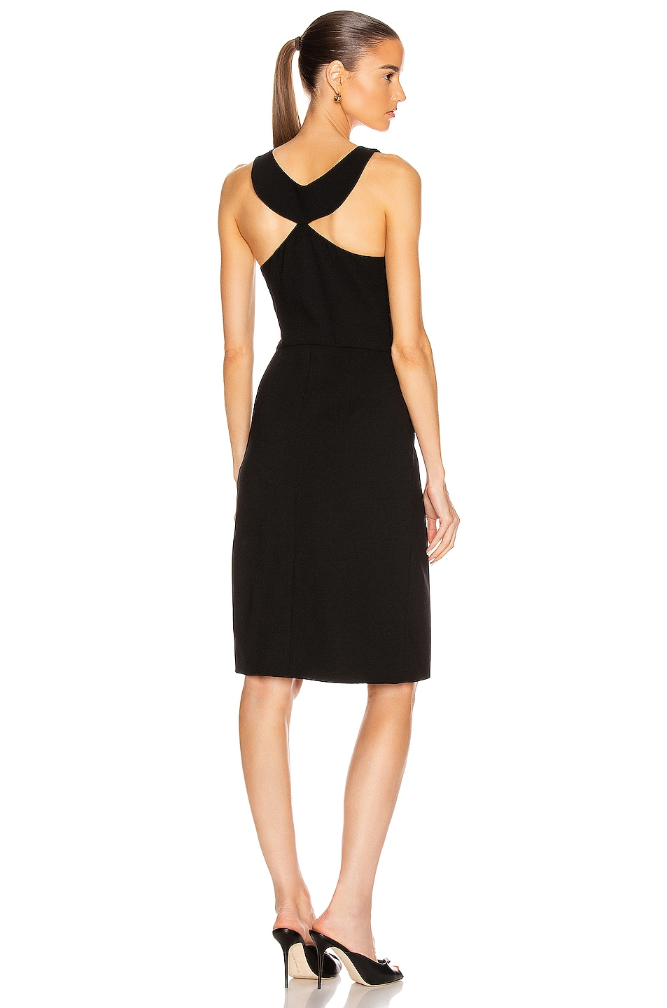 Image 1 of Givenchy Sleeveless Fitted Short Dress in Black