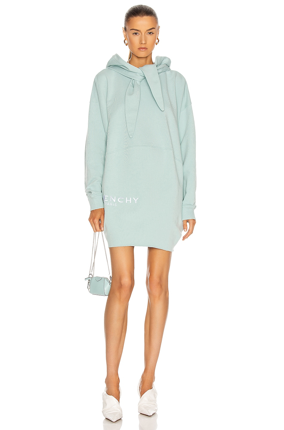 Image 1 of Givenchy Hoodie Logo Dress in Pale Blue