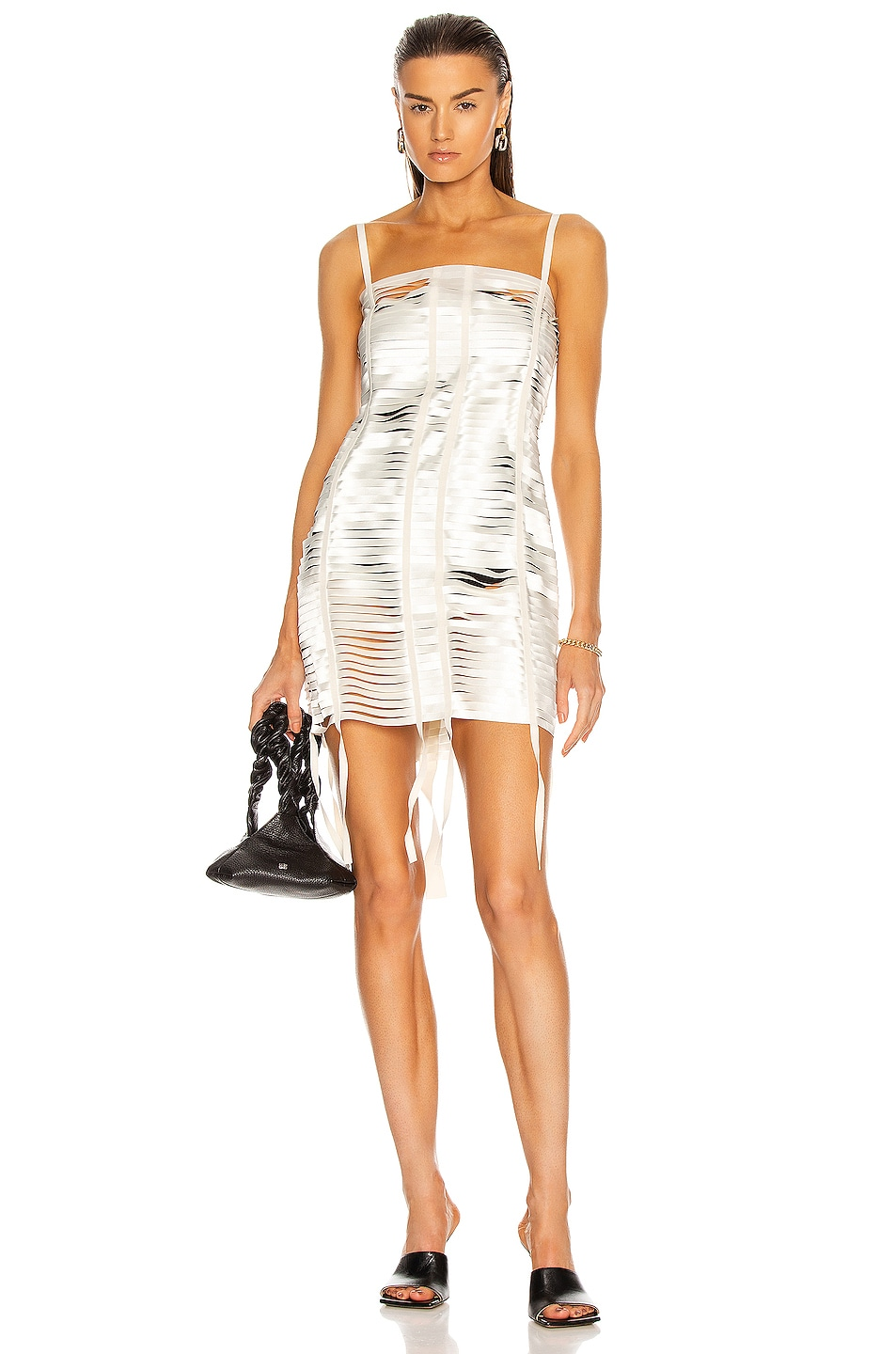 Image 1 of Givenchy Bands Mini Dress in Ivory