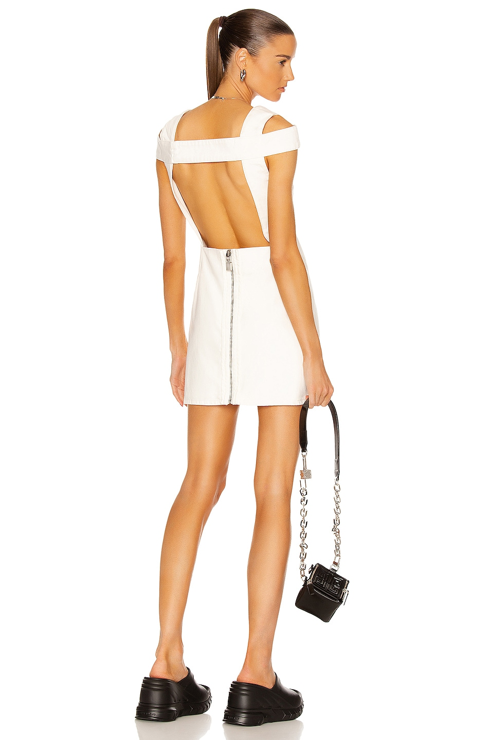 Image 1 of Givenchy Open Back Mini Dress in White