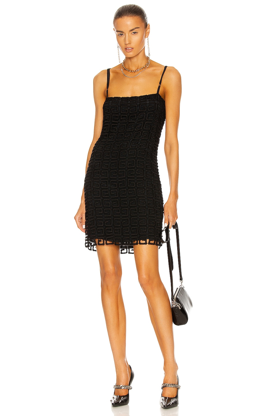 Image 1 of Givenchy 4G Short Dress in Black