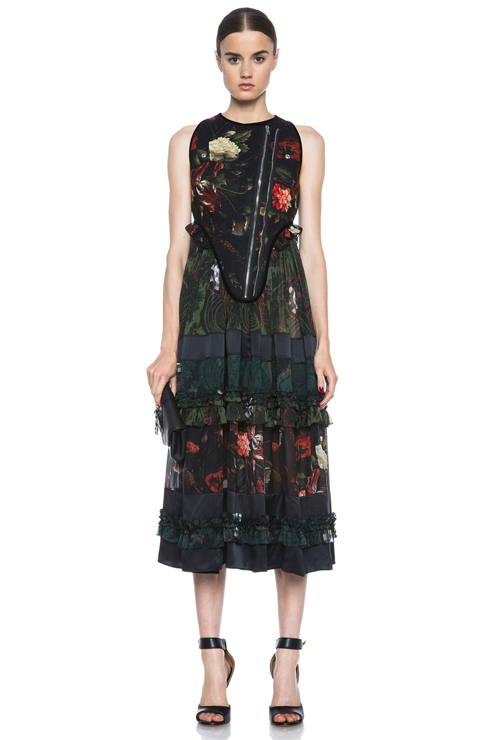 Image 1 of GIVENCHY Floral Print Gypsy Wool & Silk Dress in Multi