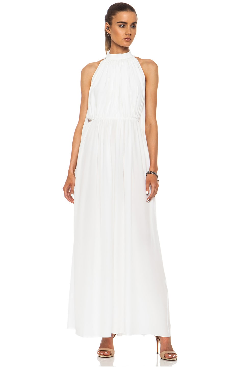 Image 1 of GIVENCHY Crepe De Chine Gown in White