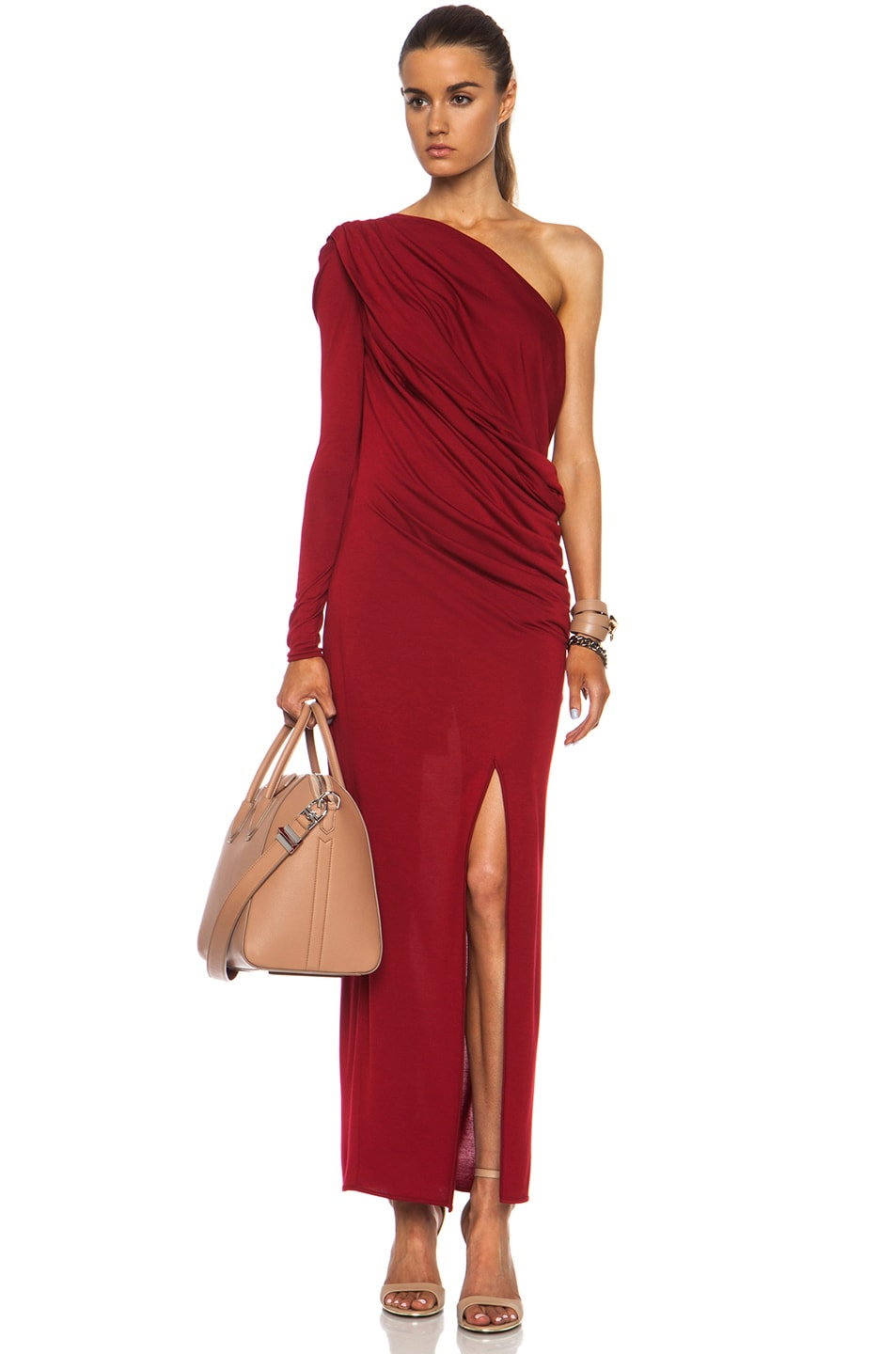 Image 1 of GIVENCHY Jersey Drape Viscose-Blend Dress in Red