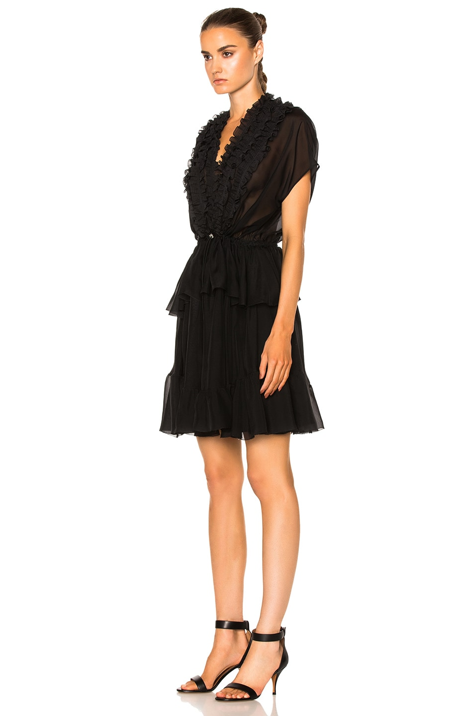 Image 2 of Givenchy Ruffled Silk Dress in Black