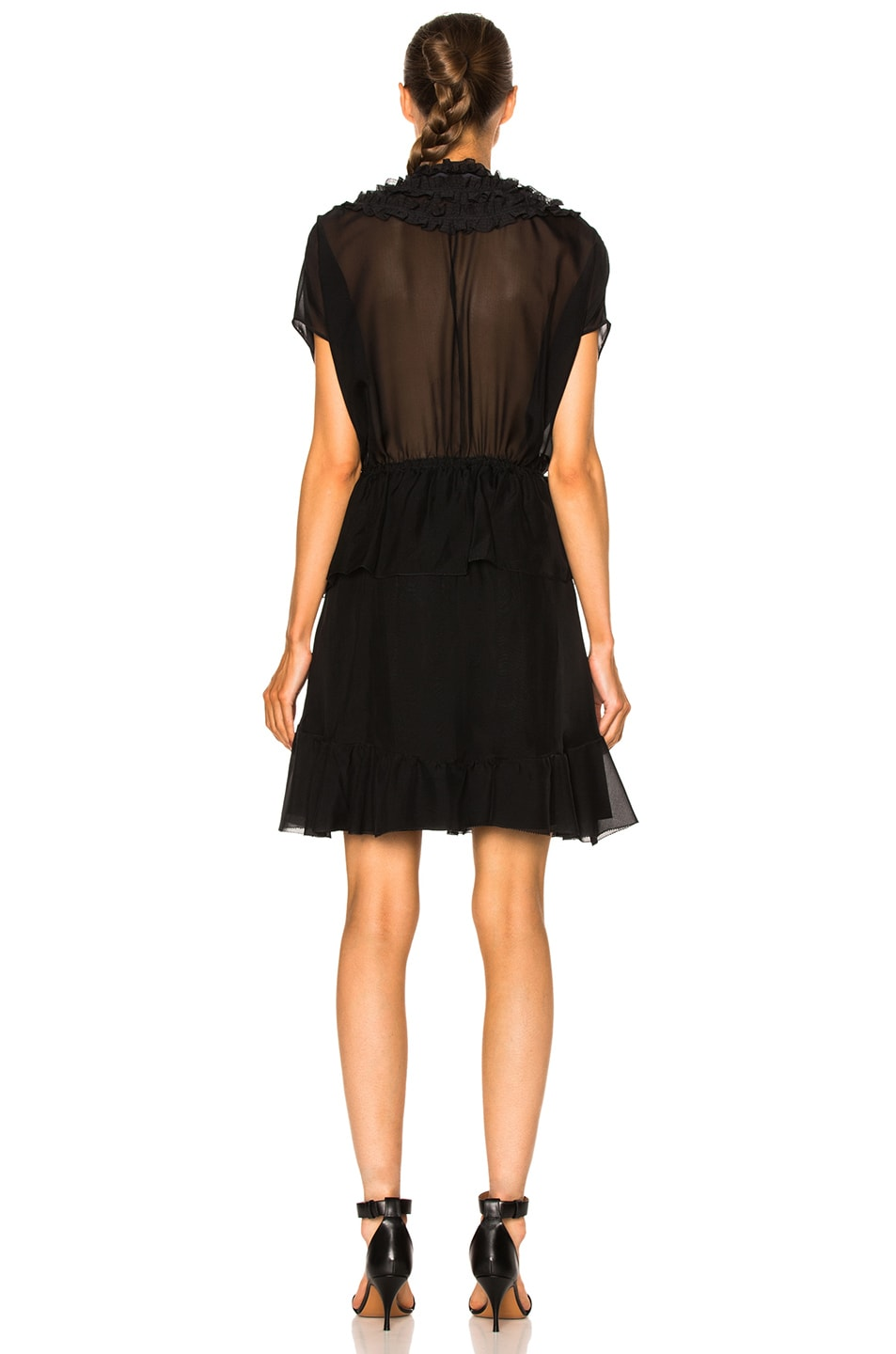 Image 4 of Givenchy Ruffled Silk Dress in Black