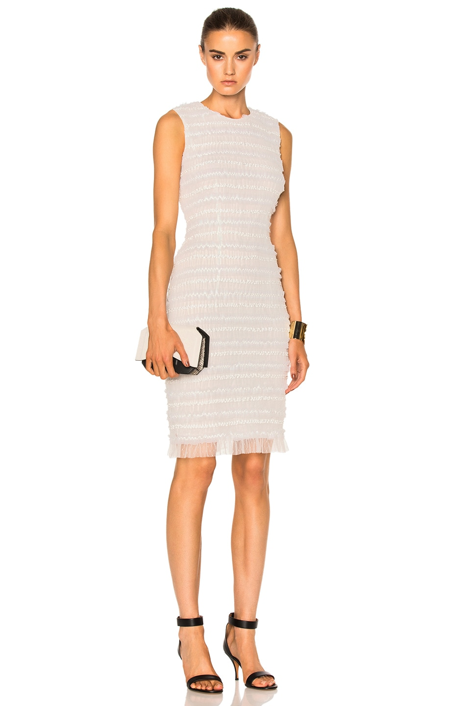 Image 1 of Givenchy Sleeveless Tulle Dress in White