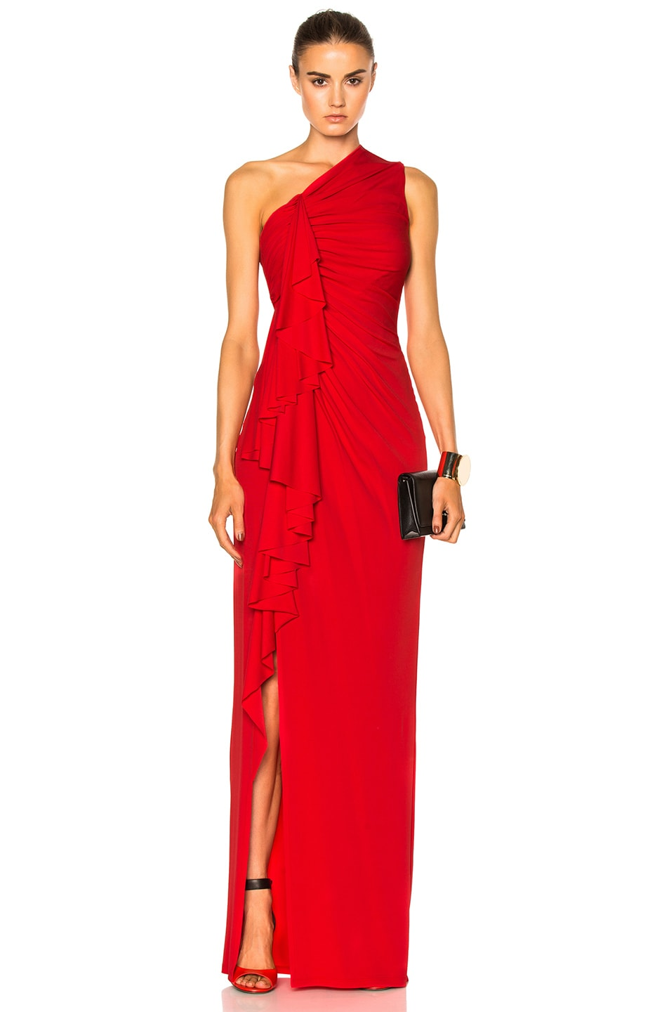 Image 1 of Givenchy Fluid Crepe Gown in Red