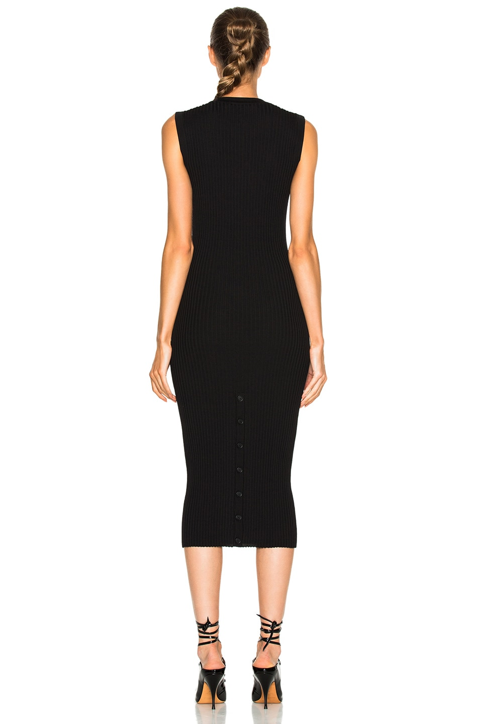 Image 4 of Givenchy Button Front Ribbed Knit Dress in Black