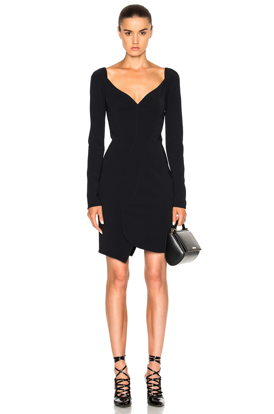 Image 1 of Givenchy Long Sleeve Mini Dress in Black