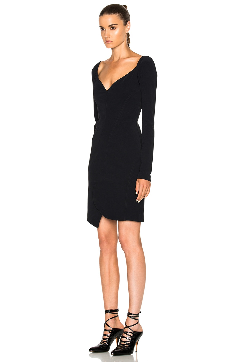 Image 2 of Givenchy Long Sleeve Mini Dress in Black