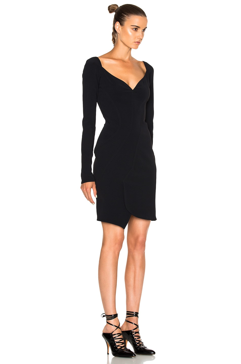 Image 3 of Givenchy Long Sleeve Mini Dress in Black