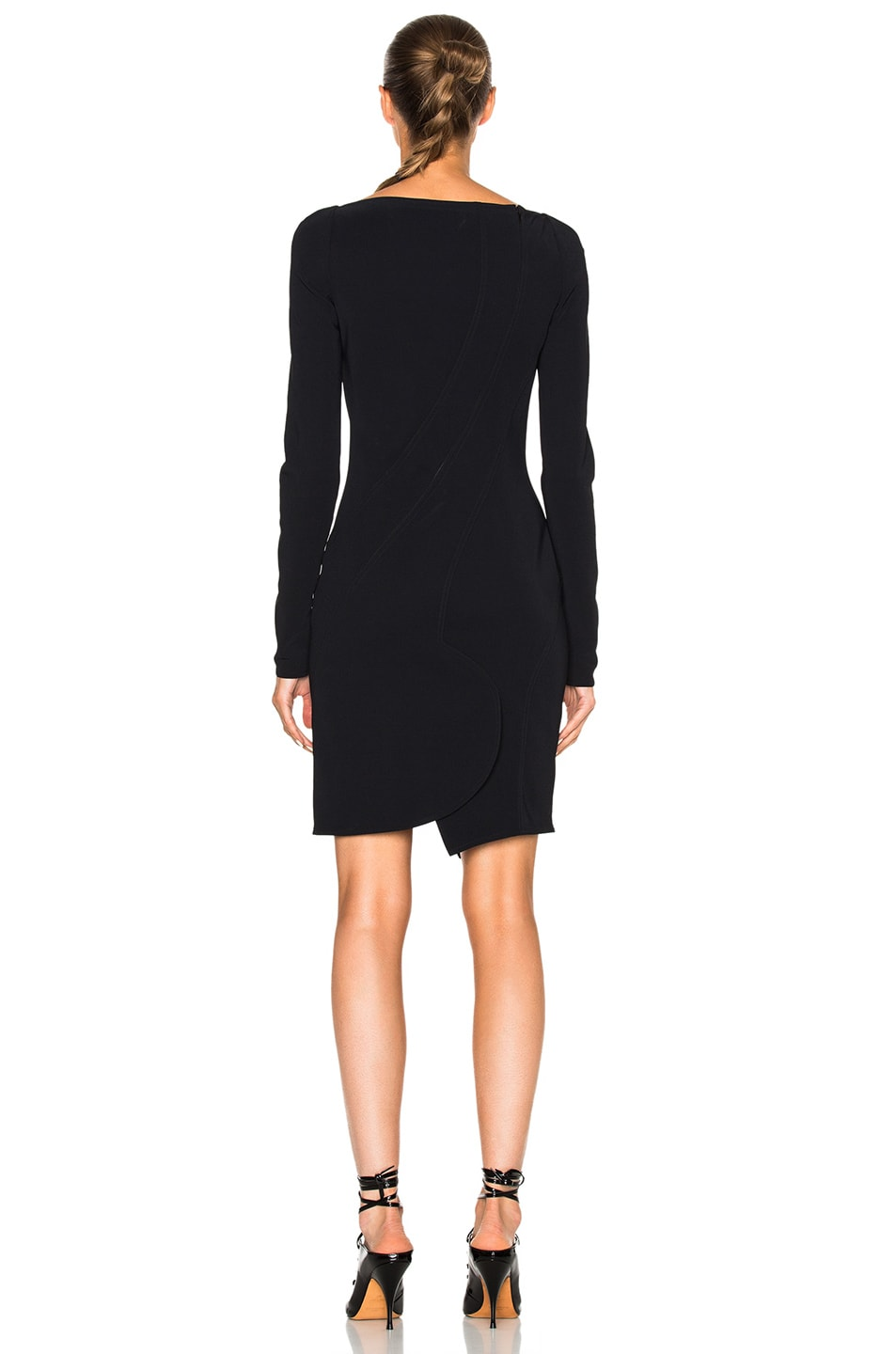 Image 4 of Givenchy Long Sleeve Mini Dress in Black