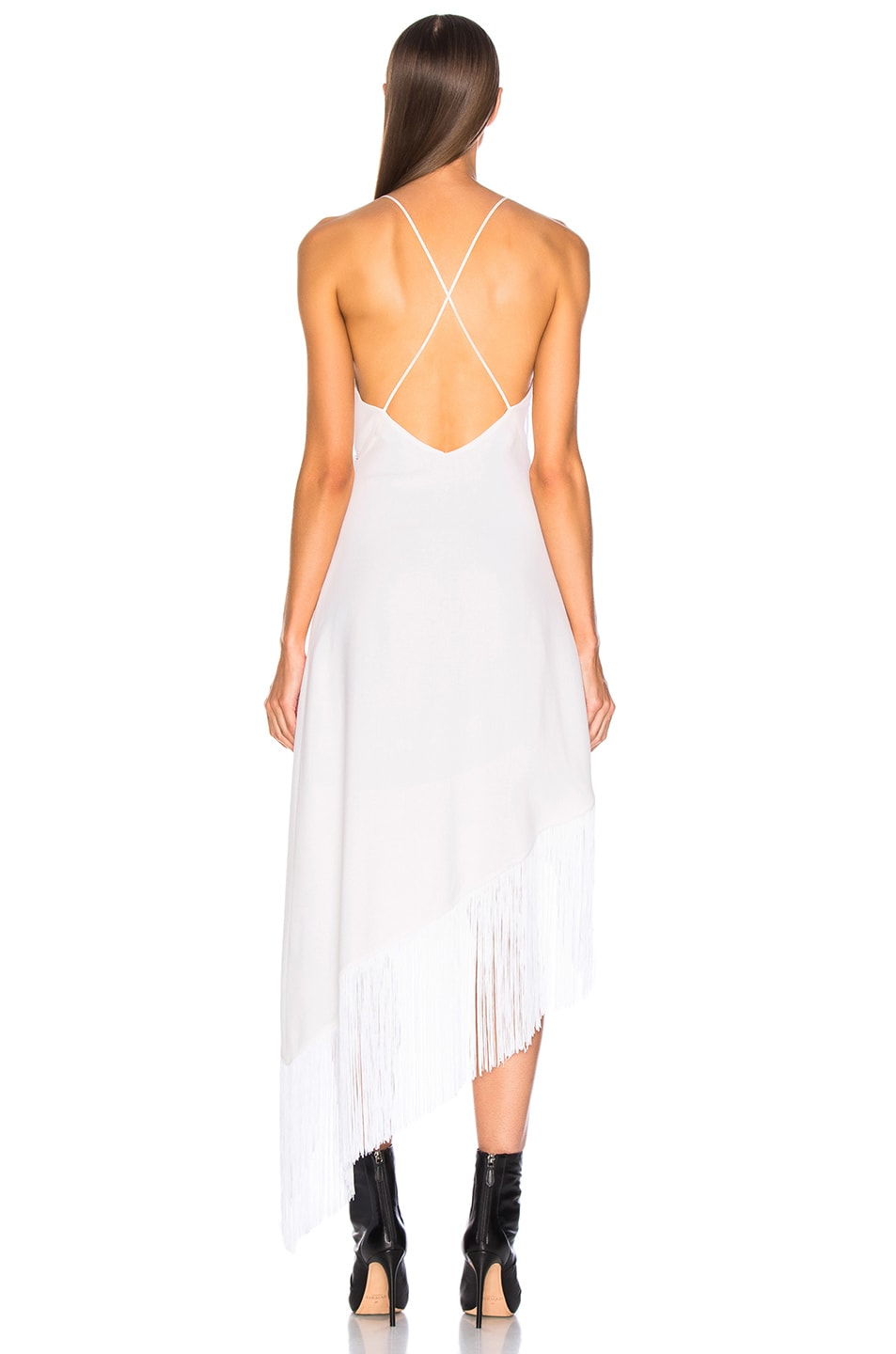 Image 4 of Givenchy Tiered Fringe Slip Dress in Off White