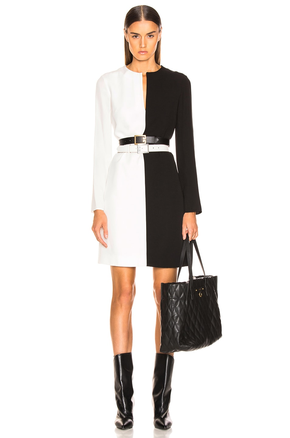 Image 1 of Givenchy Split Dress in Black & White