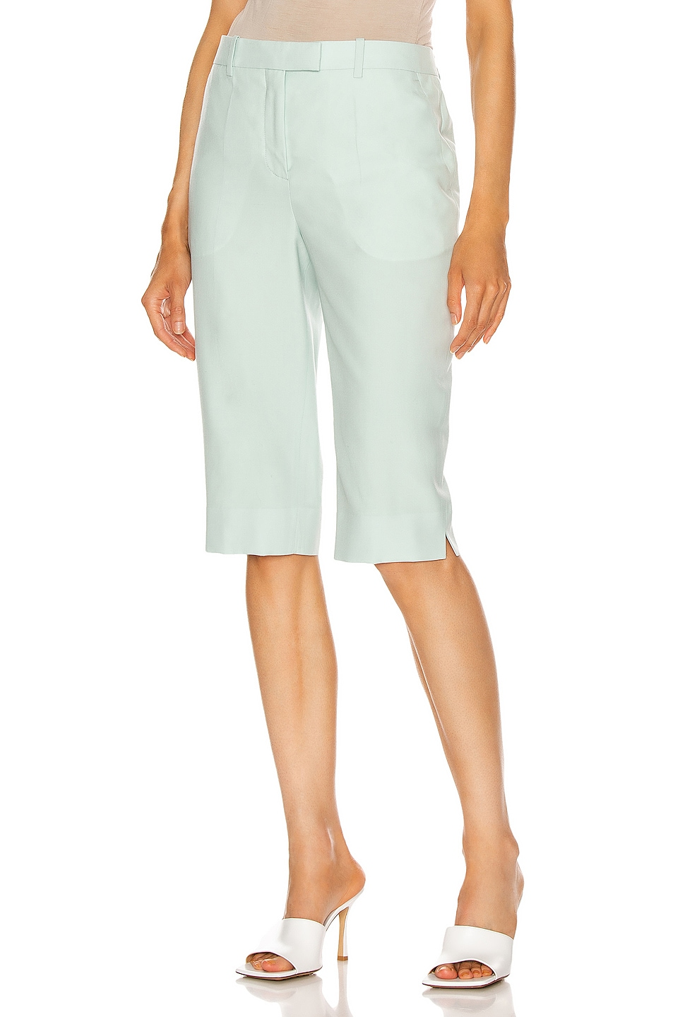 Image 1 of Givenchy Straight Fit Bermuda Short in Aqua Green