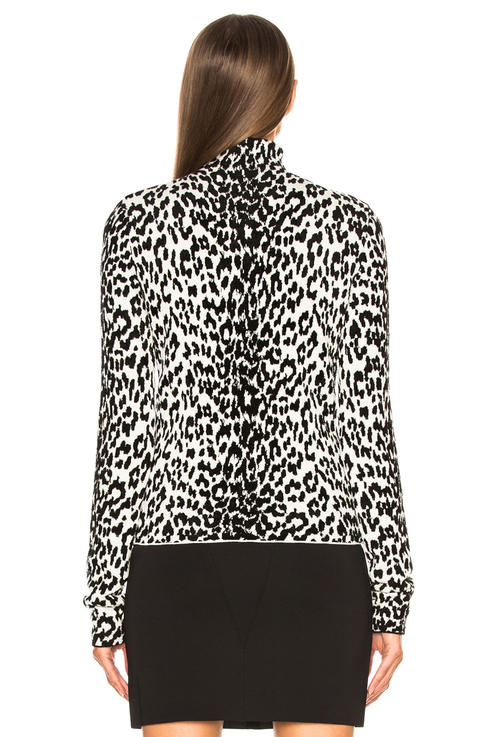 Image 4 of Givenchy Leopard Jacquard Sweater in Black & White