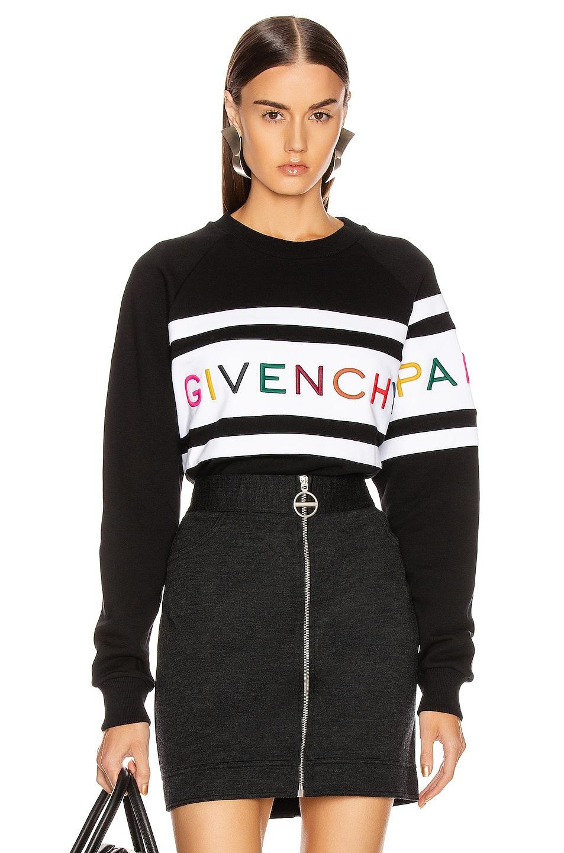 Image 1 of Givenchy Longsleeve Sweatshirt in Black & White